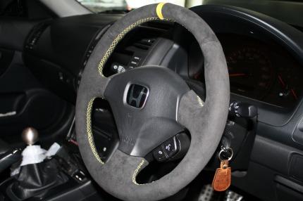 Alcantara Wrapped OEM Steering Wheel Club RSX Message Board - Acura rsx steering wheel cover
